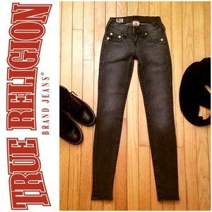True Religion gray skinny jeans